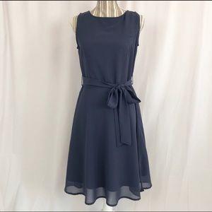 Venus Dusty Blue Sleeveless Sheath Dress Sz 6